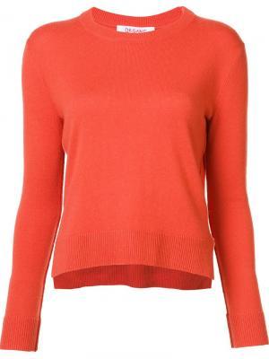Round neck cropped pullover Organic By John Patrick. Цвет: жёлтый и оранжевый
