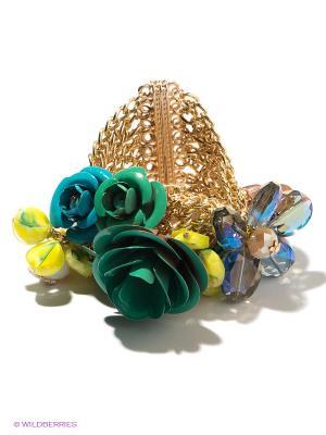 Браслет Bijoux Land. Цвет: золотистый, желтый, зеленый