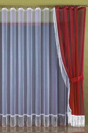 Комплект штор WISAN. Цвет: бордовый