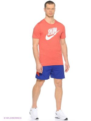 Шорты 7 PURSUIT 2-IN-1 SHORT Nike. Цвет: синий, оранжевый