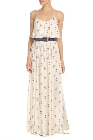 Платье ELISABETTA FRANCHI. Цвет: кремовый