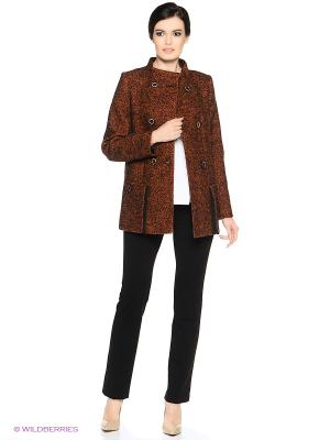 Пальто PARADOX. Цвет: коричневый