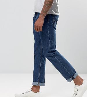 Levis Выбеленные прямые джинсы TALL 501. Цвет: синий