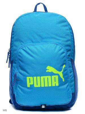 Рюкзак PUMA Phase Backpack. Цвет: лазурный, черный