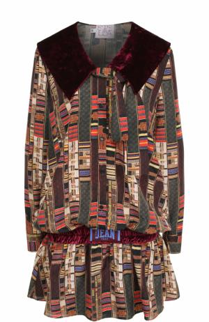 Приталенное мини-платье с принтом Stella Jean. Цвет: разноцветный