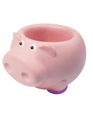 Все для Ванной - Стакан аксессуаров Хрюша Склад Уникальных Товаров. Цвет: розовый