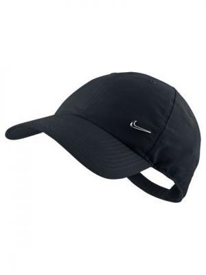 Бейсболка METAL SWOOSH CAP Nike. Цвет: черный
