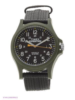 Часы TIMEX. Цвет: темно-зеленый