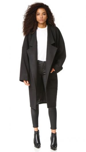 Пальто с заниженными лацканами Oak. Цвет: голубой