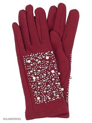 Перчатки Punta. Цвет: бордовый