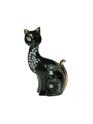 Статуэтка Кошка Русские подарки. Цвет: черный