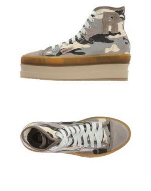 Высокие кеды и кроссовки RUCO LINE. Цвет: серый