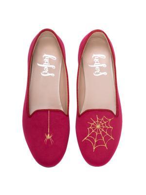 Слиперы - Паук/Паутина Lucifer's shoes. Цвет: бордовый
