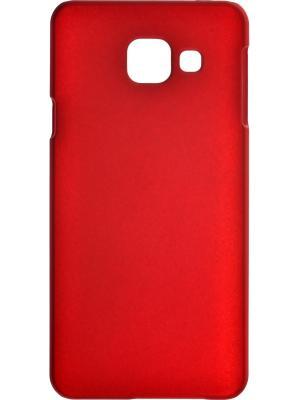 Накладка для Samsung Galaxy A3 (2016). Серия 4People., Защитная пленка в комплекте. skinBOX. Цвет: красный