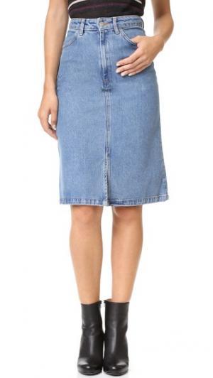 Юбка Parra M.i.h Jeans. Цвет: синий с предварительной усадкой