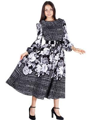 Платье OLIVEGREY. Цвет: черный, серый