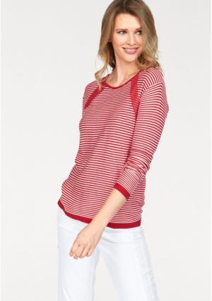 Пуловер CHEER. Цвет: белый/красный