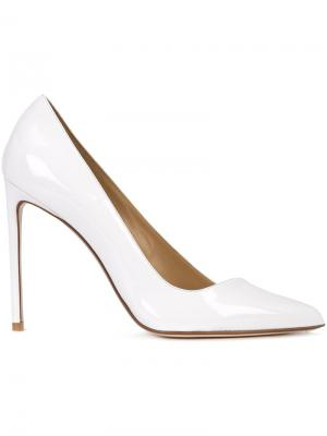 Diagonal pumps Francesco Russo. Цвет: белый