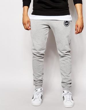 Hype Зауженные спортивные брюки с логотипом. Цвет: серый