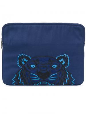 Сумка для ноутбука Tiger Kenzo. Цвет: синий