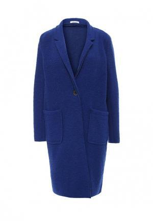 Пальто Aurora Firenze. Цвет: синий