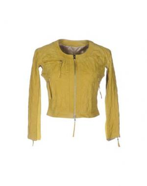 Куртка VINTAGE DE LUXE. Цвет: кислотно-зеленый
