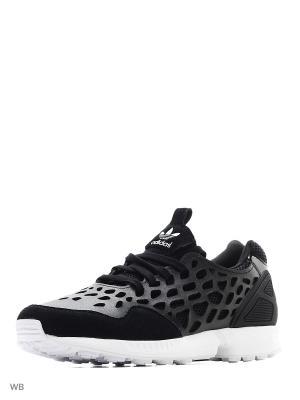 Кроссовки ZX FLUX LACE W CBLACK/CBLACK/FTWWHT Adidas. Цвет: черный