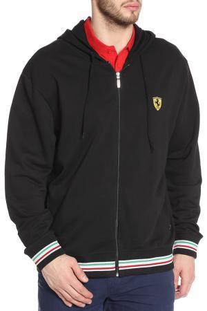 Толстовка с капюшоном Ferrari. Цвет: черный