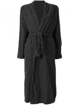 Приталенный кардиган-пальто Daniela Gregis. Цвет: серый