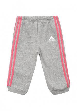 Брюки спортивные adidas Performance. Цвет: розовый