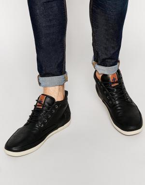 Ones Twos Черные кроссовки со вставкой в елочку +