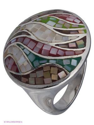 Кольцо BALEX. Цвет: белый, зеленый, коричневый, серебристый, розовый