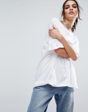 ASOS Oversize-футболка. Цвет: белый