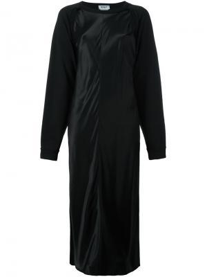 Платье длины миди с принтом сзади DKNY. Цвет: чёрный