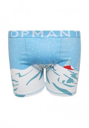 Трусы Topman. Цвет: голубой