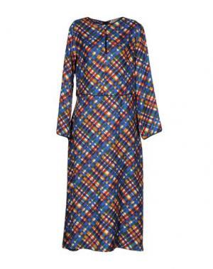 Длинное платье MOMONÍ. Цвет: синий