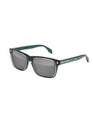 Солнцезащитные очки Alexander McQueen. Цвет: зеленый