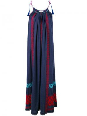 Платье Siran Ulla Johnson. Цвет: синий