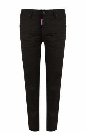 Однотонные укороченные джинсы прямого кроя Dsquared2. Цвет: черный