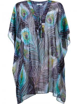 Пляжное платье с V-образным вырезом Brigitte. Цвет: многоцветный