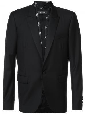 Пиджак с узорчатыми вставками Amiri. Цвет: чёрный