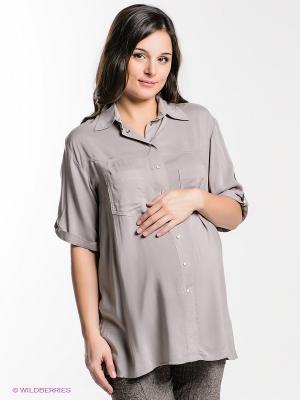 Рубашка EUROMAMA. Цвет: серо-коричневый