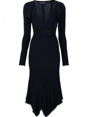 Платье c V-образным вырезом Yigal Azrouel. Цвет: чёрный