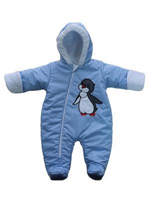 Комбинезон Пингвиненок Дашенька. Цвет: голубой