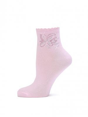 Носки LARMINI. Цвет: розовый