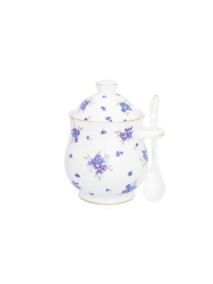 Горшочек для меда Сиреневый туман Elan Gallery. Цвет: белый,голубой,сиреневый