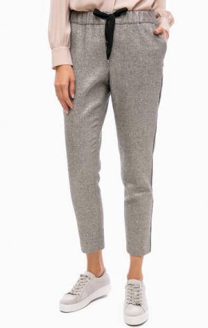 Укороченные брюки на резинке Kocca. Цвет: серый