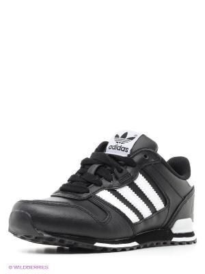 Кроссовки Adidas. Цвет: черный, белый