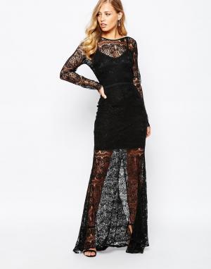 Body Frock Черное платье макси Jade. Цвет: черный