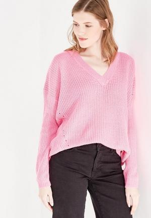 Пуловер QED London. Цвет: розовый